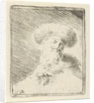 Portrait of an unknown man with fur hat by Simon Klapmuts