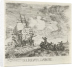 Stormy water with various boats by Hendrik Kobell