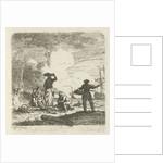 Fishermen at the beach by Hendrik Kobell