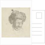 man's head with fur hat by Hendrik Kobell