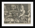 Kitchen Piece of woman cleaning fish by Abraham van Lier