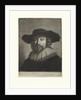 Portrait of a man with a hat and collar by Pieter Louw