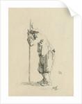 Man leaning on a stick by Jan Izaak van Mansvelt
