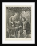 Young woman offers a man a glass of wine by Jacob Ernst Marcus