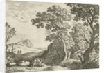 Landscape with Diana and a nymph by Antoine Bonenfant
