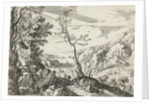 Landscape with Judah and Tamar by Franse kroon