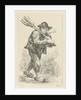 Smoking farmer with spade and pitchfork by François Joseph Pfeiffer II