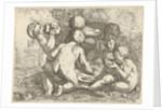 Bacchanal with five putti by Pieter van der Plas II