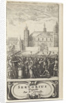 Pompée burns correspondence by Abraham Dircksz Santvoort