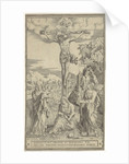 Christ on the cross flanked by Mary and John by Philippe de Soye
