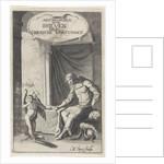Greek warrior receives a letter from Amor by Jan Tielmans