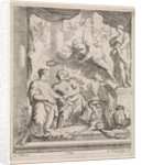 Man and Woman for an altar crowned by love, Augustinus Terwesten (I) by Gerard Valck