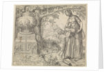 Hagar gives drink Ishmael by Willem Thibaut