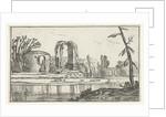 Ancient ruins in a river by Claes Jansz. Visscher II
