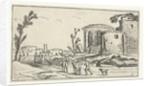 Landscape with Ruins by Claes Jansz. Visscher II