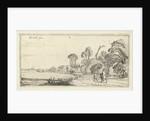 Hikers on a road at Hillegom by Esaias van de Velde