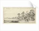 Hikers on a road at Hillegom by Esaias van de Velde