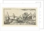 Landscape with a brewery by Esaias van de Velde