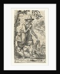 Hunter with two dogs by Claes Jansz. Visscher II