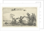 Farm with dovecote on a river by Claes Jansz. Visscher II