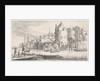 Town on a river by Jan van de Velde II