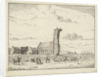 Collapsed tower at Egmond-aan-Zee, 1741 by Adriaan Spinder