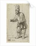 Beggar with high hat, Anthony de Vos by Rembrandt Harmensz. van Rijn