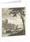 Landscape with boat by Cornelis van Jagen