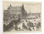 View of the court of Brussels, 1673 by Kemnitz