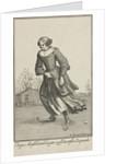 Skating woman by Bernard Picart