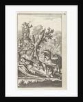 Hunter bends over a reclining woman by Gerrit van Goedesberg
