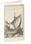 Galley with soldiers at sea by Gerrit van Goedesberg