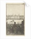 Battle between two armed men by Gerrit van Goedesberg