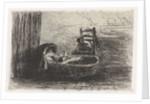 Child in cradle by Jozef Israëls