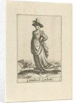 Peasant Woman dressed in the Lombard fashion by Johannes Covens and Cornelis Mortier