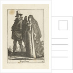 Couple dressed in the Neapolitan fashion by Johannes Covens and Cornelis Mortier