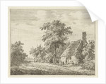 Two houses along a road by Adrianus Serné