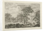 Landscape with Figures on a path by Franciscus Andreas Milatz