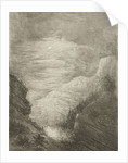Mountain landscape with river in moonlight by Willem Matthias Jan van Dielen