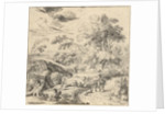 Landscape with a donkey rider by Jan van Nickelen