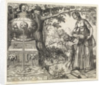 Hagar gives a drink to Ishmael by Willem Thibaut