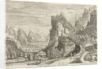 Landscape with Tobias and Raphael angel on the way by Reinier & Josua Ottens
