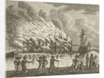 Brand in 's Lands Zeemagazijn by Jan Lucas van der Beek