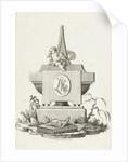 Gravestone with weeping angel by Jean Bernard