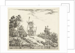 Landscape with farm and mill in Holstein by Dirk Vis Blokhuyzen
