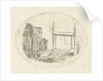 Next to a row of houses by Johannes Ludovicus van den Bos