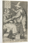 The unequal love couple: Old woman and young man by Jacques Honervogt I