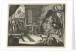 Jacob complains to Laban that he gave him Leah instead of Rachel as his wife by Daniël van den Bremden