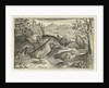 Three hens and two roosters by Claes Jansz. Visscher II