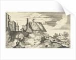 Landscape with gate by Maerten de Cock